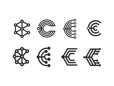 Logomark exploration c letter visual identity logomark