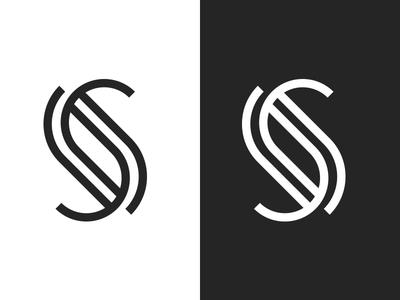 S mark logotype monogram logo letter s