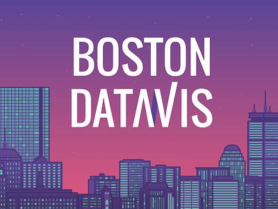 Boston Datavis meetup visualization data illustration skyline boston