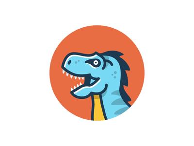 Mascot logo branding mascot dinosaur