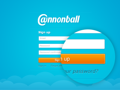 Cannonball signup page