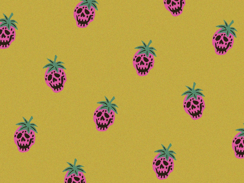 Strawberry Cough print apparel print and pattern vector retro 60s 70s vintage stoner illustration