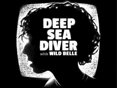 Deep Sea Diver w/ Wild Belle poster music rock indie poster dither deep sea diver indie rock post rock