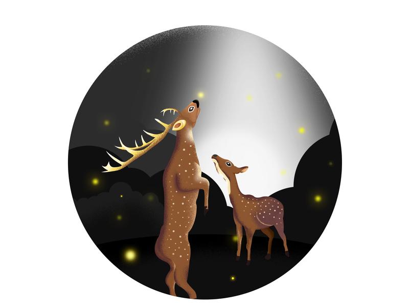 Deer Dream design animation ux deer illustration deer app illustration ui art