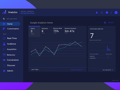 Google Analytics Dashboard Ui Design