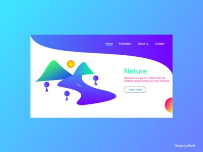 Nature Landing page UI Design