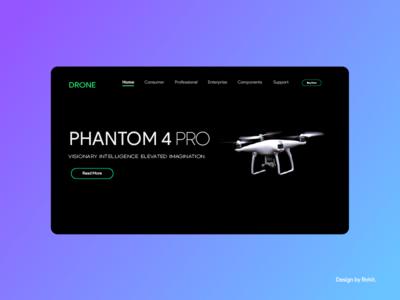 DJI Phantom 4 Landing Page