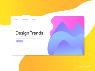 Design Trends landing page