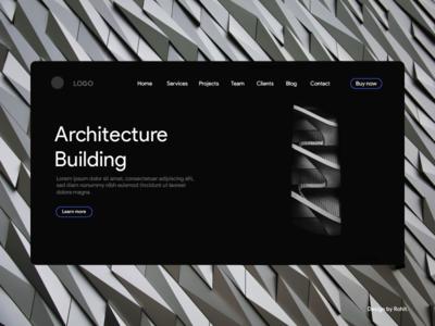 Architecture building landing page