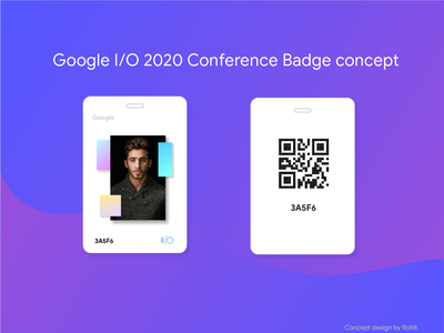 Google I/O 2020 Conference badge design concept