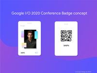 Google I/O 2020 Conference badge design concept