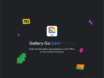 Gallery Go Dark Theme UI for andriod