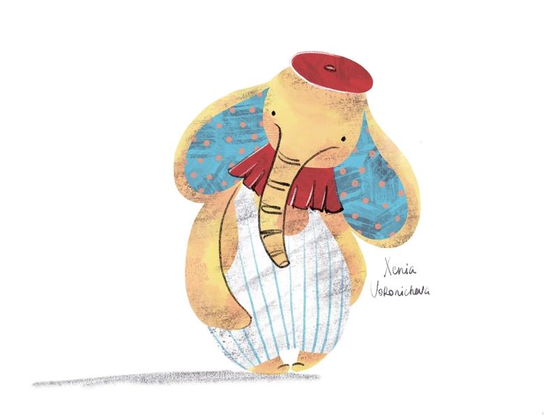 Yellow elephant kid art kid lit illustrator illustration children book illustration children art ipad pro yellow procreate brushes procreate art procreate app procreate elephant logo elephant charachter design