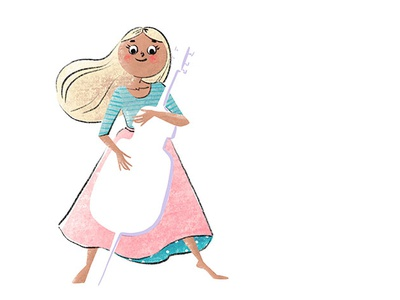 Cellist girl children art procreate brush kid illustration illustrator illustration charachter design doodle art book illustration kid lit artist ipad pro children illustrator kid art children book illustration procreate art illustrated book procreate app procreate children illustration kid lit picture book