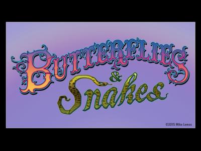 Butterflies & Snakes Unused Lettering Design Logo