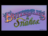 Butterflies & Snakes Unused Lettering Design Logo