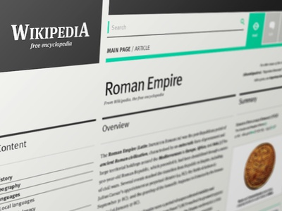 Wikipedia redesign for fun