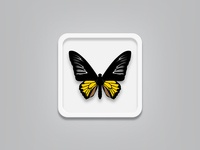 Butterfly rebound (free vector file)