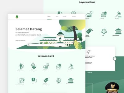 West Java goverment web design (Contest)