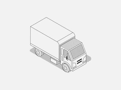 Truck Illustration illustration sketch vehicle isometric line drawing truck