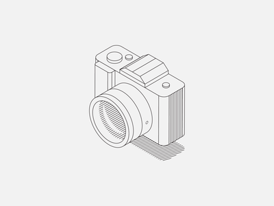 Camera Illustration photos lens isometric vector lineart illustraion camera