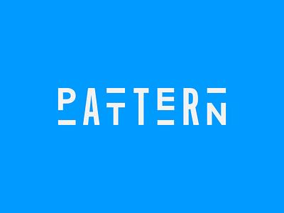 Pattern Wordmark tictoc alternate gotham font logo wordmark pattern