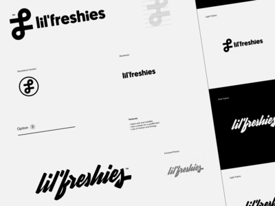 Lil' Freshies Concepts flash proof branding logo script freshies