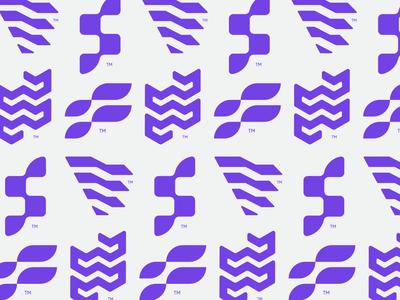 Flexspace Logos pattern brand branding monogram letter f f logos