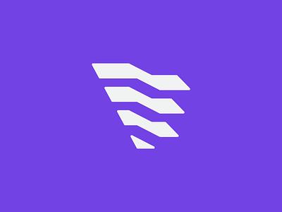 Flexspace space cascade unfold branding brand mark logo letter f f