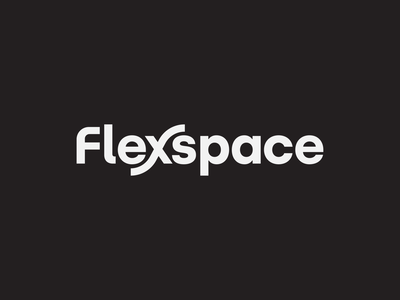 Flexspace Wordmark adaptive fluid wave logo bend flexibility flex x flexspace wordmark