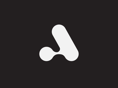 Letter A branding logo division blend flexible monogram a letter a