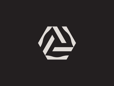 What is it? logotype mark triangle clean overlap branding logo square cube