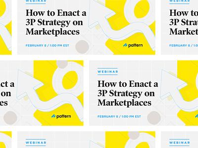 Webinar Ad strategy pattern tech social media linkedin advertisement ad