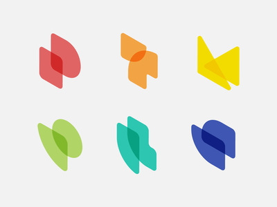 Unused Product Monograms isometric transparent logo symbols monograms branding logos