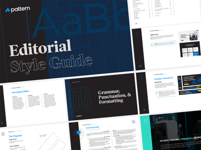 Editorial Style Guide pattern illustration pages ecommerce editorial tech design print document pdf booklet style guide