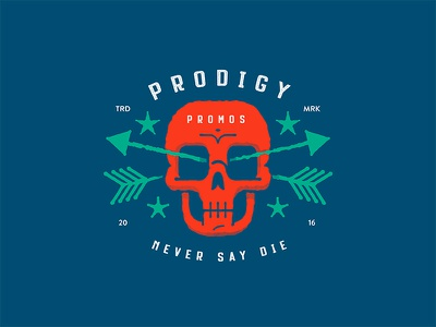 Prodigy Decal goonies never say die dead arrow skull sticker decal