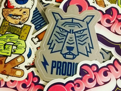 Stickers gross illustration decals prodigy wolf stickers
