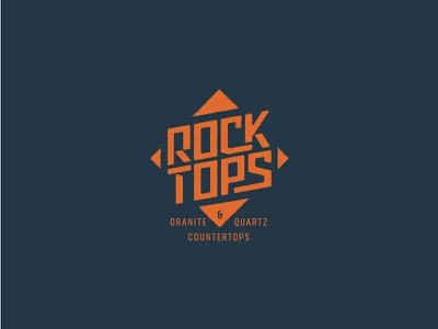Rock Tops label badge square rock tops counter tops granite