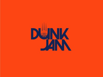 Dunk Jam Logo dunk free throw swoosh logo basketball sports slam dunk