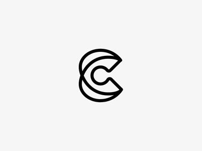 C No. 3 c letter c logo mongram