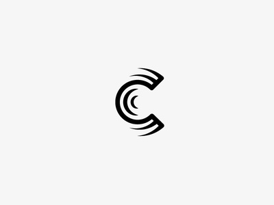 Letter C logo mongram letter c c