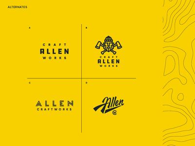 Allen Craftworks - Variations marks logo lumberjack lathe woodworking cratworks