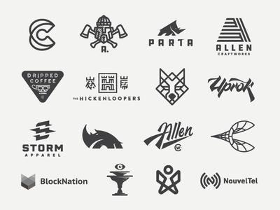 2018 In Review design mongram symbol icons logos branding