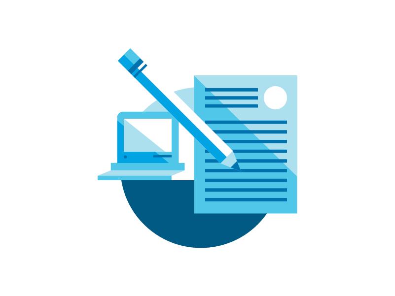 AIG Whitepaper Elements flat insurance computer tech illustration