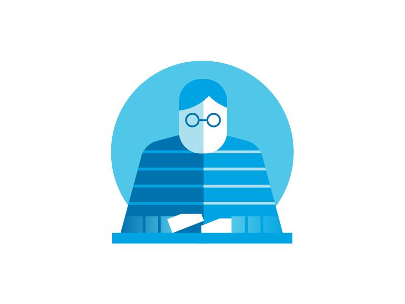 AIG Dude person dude tech nerd glasses illustration