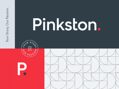 The new Pinkston. seal pattern branding period logo speciman system brand system pinkston