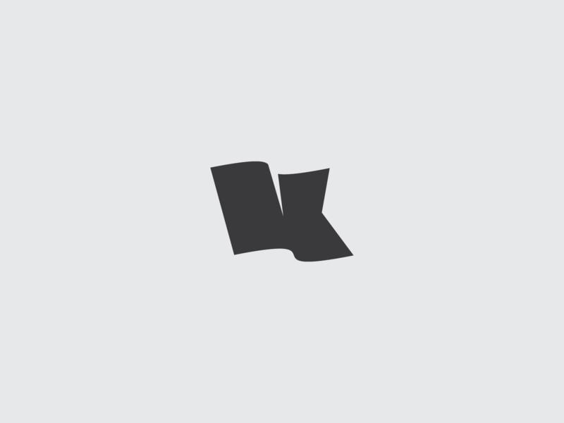 Letter K banner flag letter k logo monogram