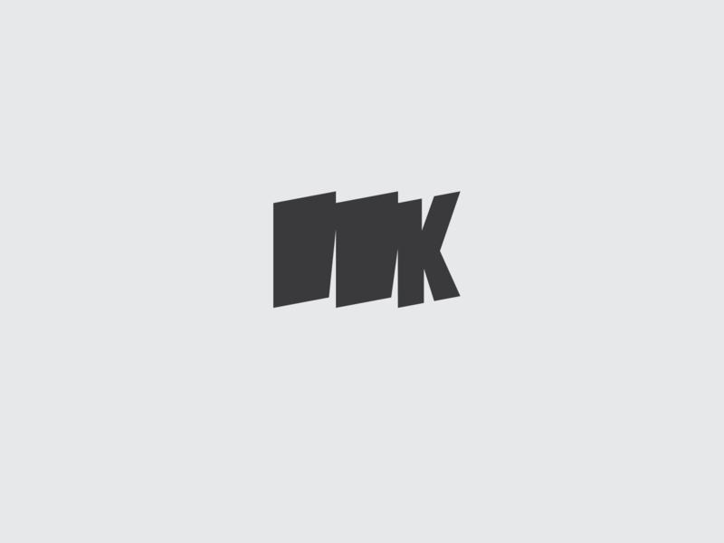 Letter K patriotic banner flag logo letter monogram k letter k