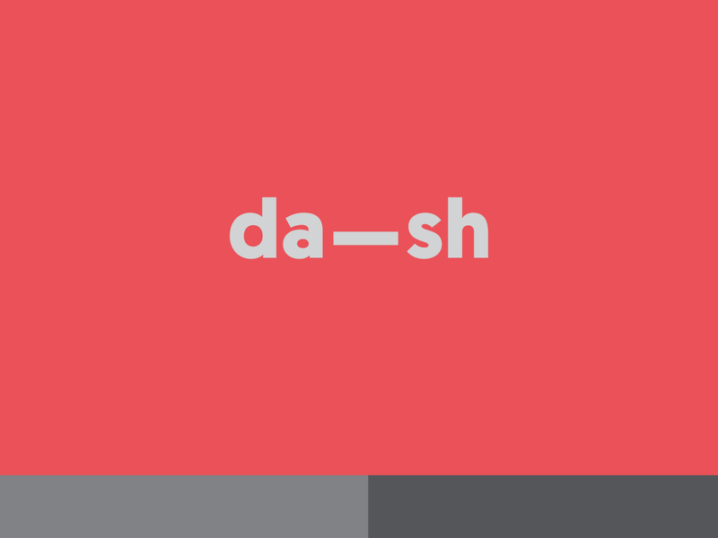 Dash Journals date and year underscore branding logo dash