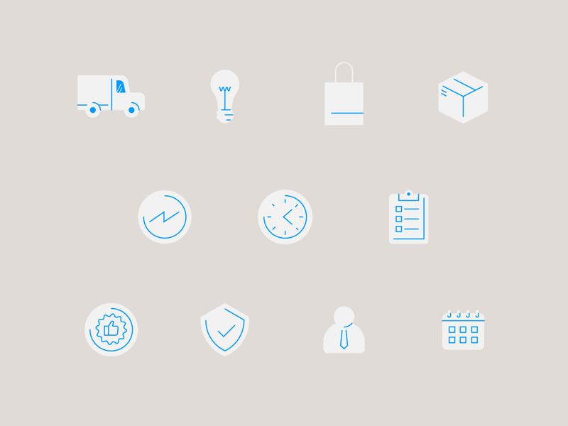 Pattern Infographics Icons distributed protect growth e-commerce business subtle pattern icons